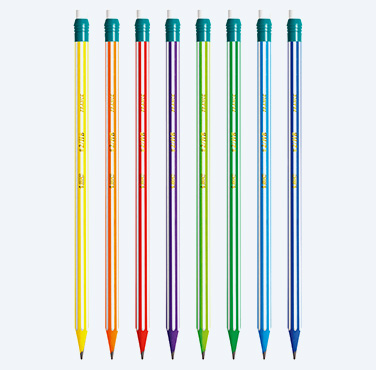 BIC EVOLUTION STRIPES - BLYERTSPENNA MED RADERGUMMI