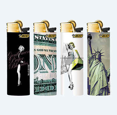 BIC MAXI LIGHTERS L.A. SERIES